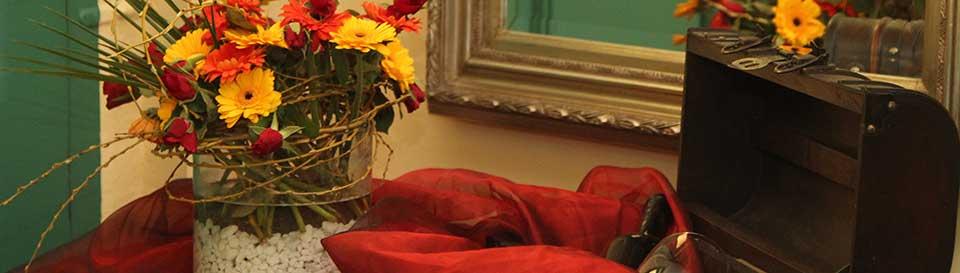 Blumen im Eingang
