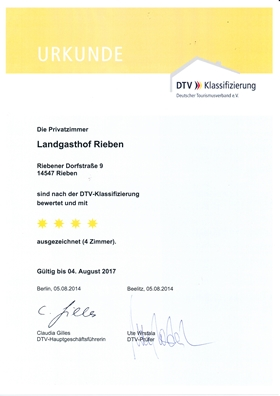 4 Sterne Klassifizierung -  Deutscher Tourismusverband